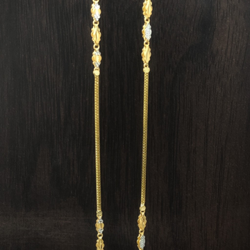 916 gold fancy rhodium chain by Suvidhi Ornaments