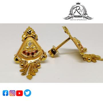 22 carat gold traditional ladies earrings RH-ER852