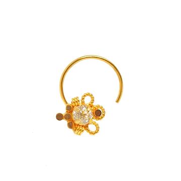18K Gold Designer Nosepin MGA - GN0013