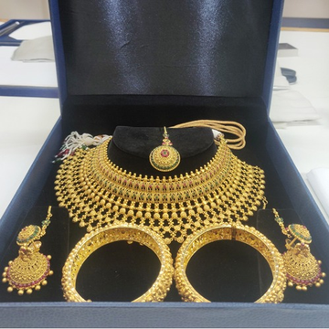 916 gold classic bridal jewellery