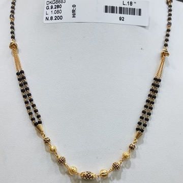 22KT/916 YELLOW GOLD FANCY MAYRA MANGALSUTRA GMS-001