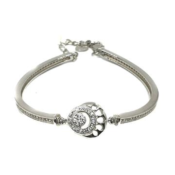 925 Sterling Silver CZ Diamond Loose Bracelet MGA - BRS0354
