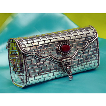 Silver Fancy Clutch
