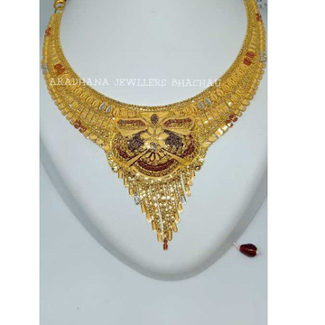 916 Yellow Gold Bridal Necklace Set