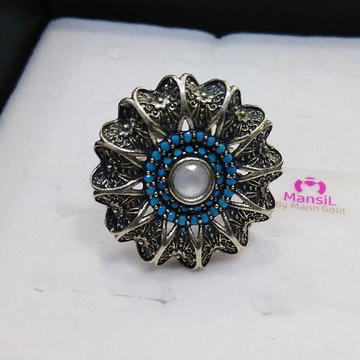 92.5 sterling silver designer antique ring ML-70