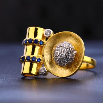 22KT Gold  Fancy Hallmark Women's Ring  LR665