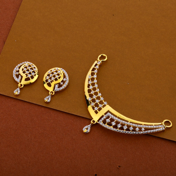 22kt Cz Women's Hallmark Pendant Set MP277