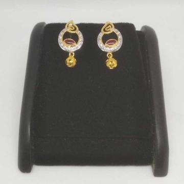 22 k gold fancy earring. nj-e0901