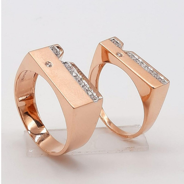 18KT Rose Gold Delightful Design Couple Ring  by Panna Jewellers