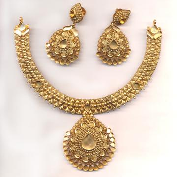 Kundan Jewelry Set Khokha OM - N014