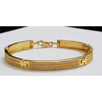22k Gents Fancy Gold Bracelet G-3439