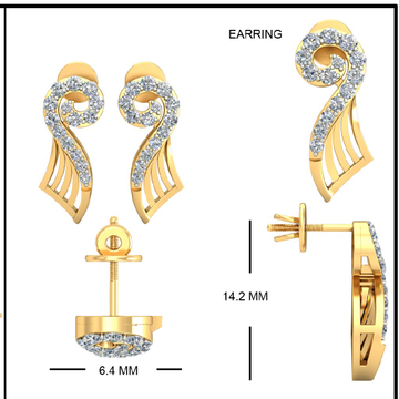 22Kt Yellow Gold Ceeran Detachable Earrings For Women