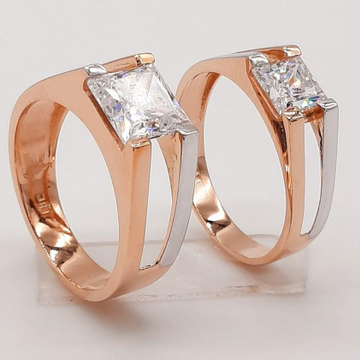 18KT Rose New Design Engagement Couple Hallmark Ri... by Panna Jewellers