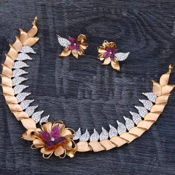 750 Rose Gold Ladies Exclusive Necklace set RN338
