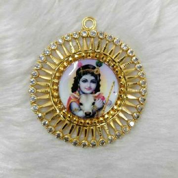 916 Gold Fancy Meenakari Balkrishna Pendant