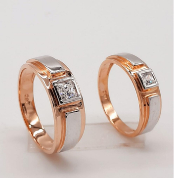 18KT Rose Hallmark Exclusive Design Couple Ring  by Panna Jewellers