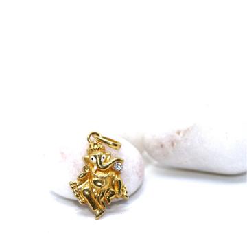 22KT / 916 Gold dancing Ganeshji Pendant for Unise... by