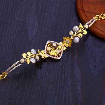 916 Gold Stylish Hallmark Bracelet LB274