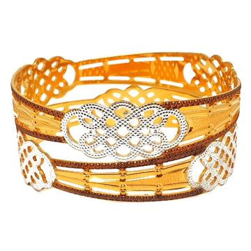 1 gram gold forming designer bangles mga - bge0424