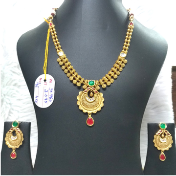 916 Gold Traditional Design Necklace set