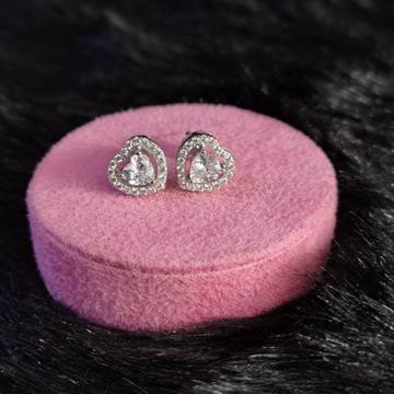 92.5 Sterling Silver Atticus Heart Earrings For Women
