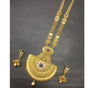 Antique 916 Gold Long Ladies Necklace KG-N007 by Kundan