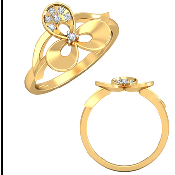 22KT Yellow Gold Figurative Folk Ring For Women