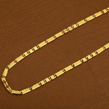 Mens 916 Simple Nawabi Gold Plain CHAIN-MNC04