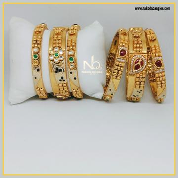 916 Gold Patla Bangles NB-296