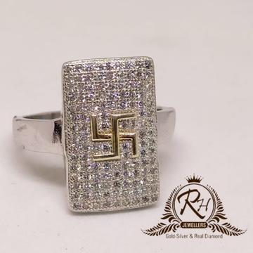 92.5 silver shathiya daimond geants ring Rh-Gr948