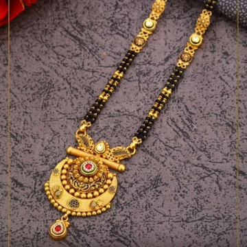 22K ANTIQUE DOUBLE LINE MANGALSUTRA by