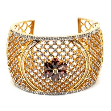 Micro gold forming fancy diamond bracelet mga - bge0102