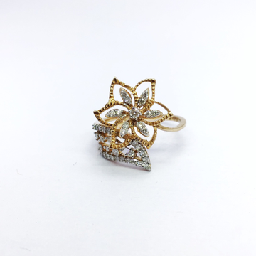 REAL DIAMOND FANCY FLOWER RING
