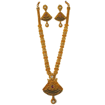 1 gram gold forming necklace set mga - gfn0023