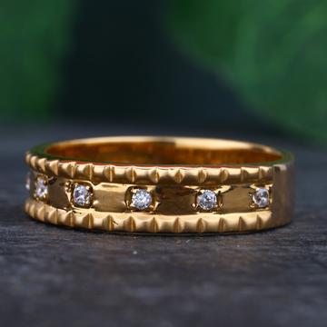 18KT Rose Gold Cz Classic Rings For Women RhJ-36