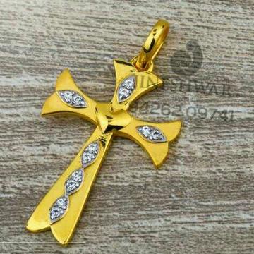 916 Fancy Cz Plain Gold Pebdent