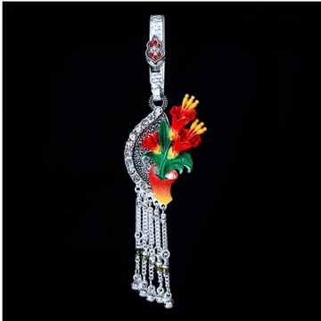 Silver Colorful Flower Design Juda by MSK Jewel Art Private Limited