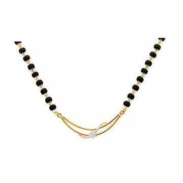 18K Gold Real Diamond Mangalsutra MGA - RMS0010