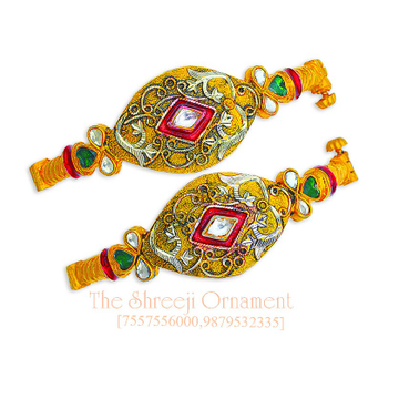 916 Gold Fancy Jadtar Copper Kadali - 0011