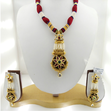 916 Gold Antique Bridal Necklace Set RHJ-3403