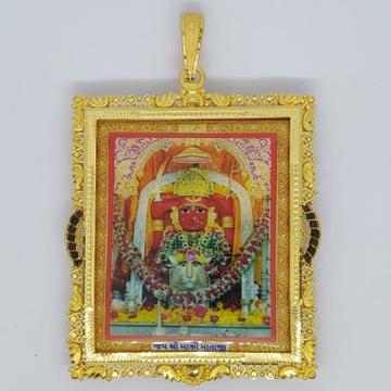 916 Gold Fancy Goddess Photo Frame Pendant