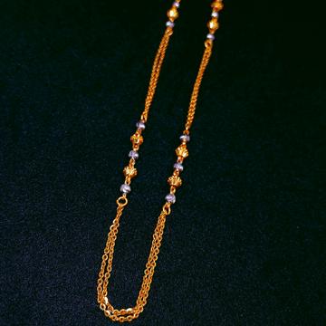 916 Gold Designer Chain by Ghunghru Jewellers