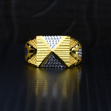 Men's Exclusive 22K Plain Casting Gold Ring- MPR55