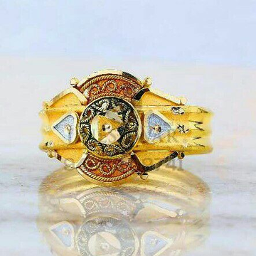 Daily Were plain Gold Ladies Ring LRG -0822
