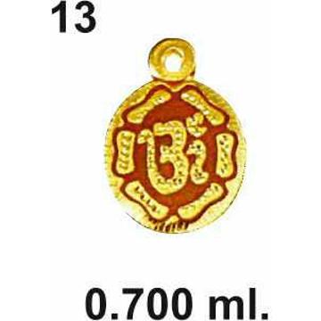 916 Gold Round Shape Om Pendant