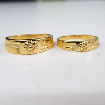 22kt yellow gold treasured divine couple ring for unisex