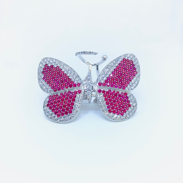 FANCY MOVING FLAXIBLE BUTTERFLY RING by
