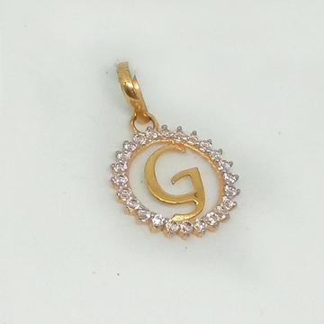 916 Gold CZ Alphabet Pendant MJ-P002