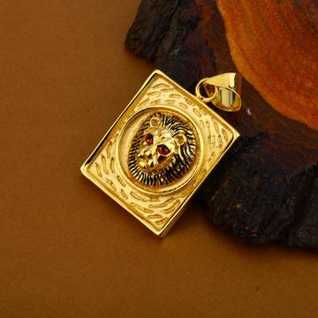 Hollow Lion Gold Pendant-HLP107