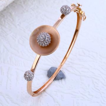 18KT Rose Gold Classic Hallmark Kada Bracelet RLKB188